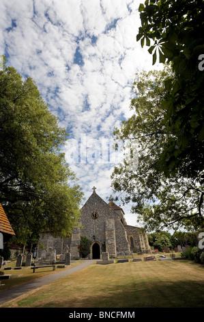 St.-Margarethen Kirche im Dorf Rottingdean - Stockfoto