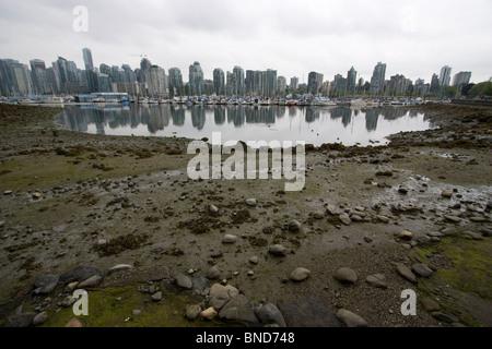Blick auf Vancouver die Stadt der Wolkenkratzer - Stockfoto