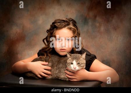 Porträt von preteen Mädchen - Stockfoto