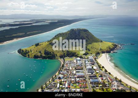 Mount Maunganui, Tauranga, Bay of Plenty, North Island, Neuseeland - Antenne - Stockfoto