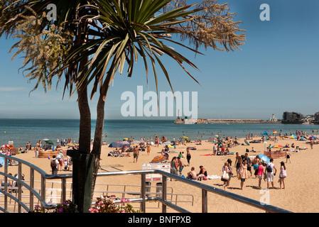 Margate Kent Hauptort Strand temp 30 c 07.10.2010 - Stockfoto