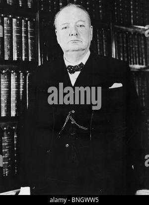 Porträt von Winston Churchill, britischer Premierminister (1874-1965) - Stockfoto
