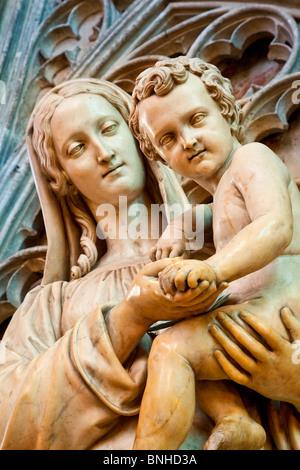 Europa, Frankreich, Gironde (33), Bordeaux, Kathedrale Saint-André, von der UNESCO als Weltkulturerbe gelistet - Stockfoto