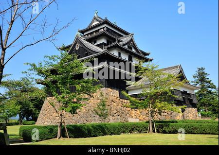 Japan Matsue Burg Matsue Stadt Shimane Präfektur Honshu Insel Architektur Asien Schloss Bergfried äußere Festung - Stockfoto