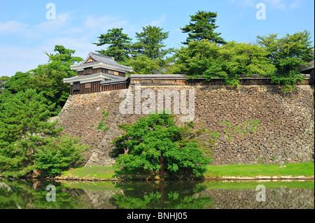 Japan Matsue Burg Matsue Stadt Shimane Präfektur Honshu Insel Architektur Asien Schloss äußere Festung Jozan Koen - Stockfoto