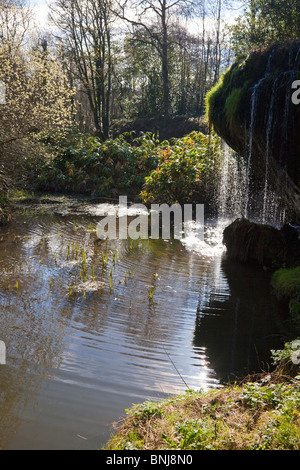 Steingarten Gärten Blarney Castle in Frühlingssonne County Cork Munster Republik von Irland Irland Europa - Stockfoto