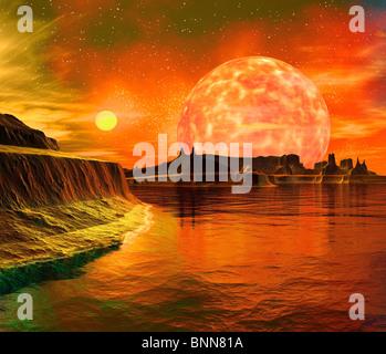 Fremden Planeten, artwork - Stockfoto