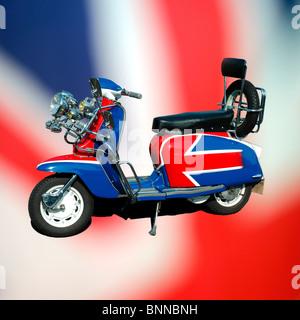 Benutzerdefinierte Lambretta Roller Stockfoto, Bild
