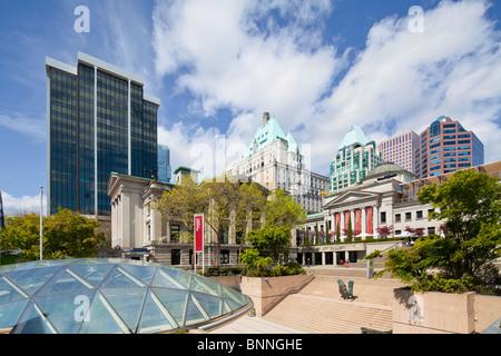 Robson Square, Vancouver Art Gallery, British Columbia, BC - Stockfoto