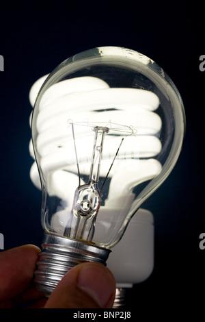 Kompakte Leuchtstofflampen Lampe Bungalow bis - Stockfoto