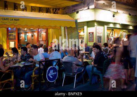 Arles Frankreich Bevoelkert French Cafe Bar Cafe La Nuit Natur