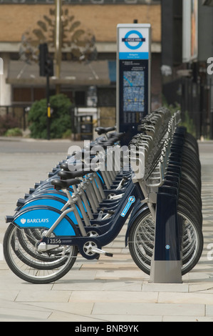 Boris Bikes. TFL Transport for London Fahrrad die Regelung London Uk HOMER SYKES 2010 s Borris - Stockfoto