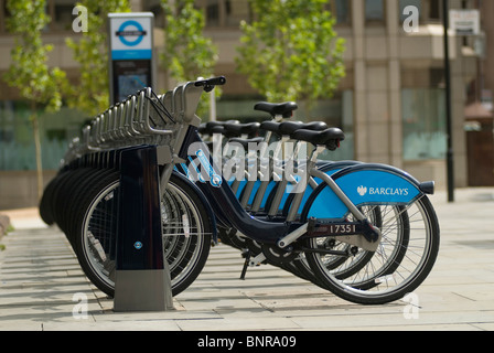 Boris Bikes. TFL Transport for London Fahrrad die Regelung London UK 2010 2010 s HOMER SYKES - Stockfoto