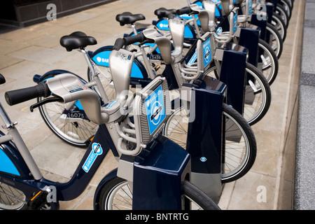Fahrrad Vermietung Schema London Vereinigtes Königreich - Stockfoto