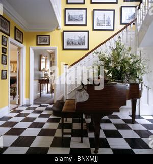 Schwarz Weiß Schachbrett Vinylbodenbelag In Große Moderne Weiße