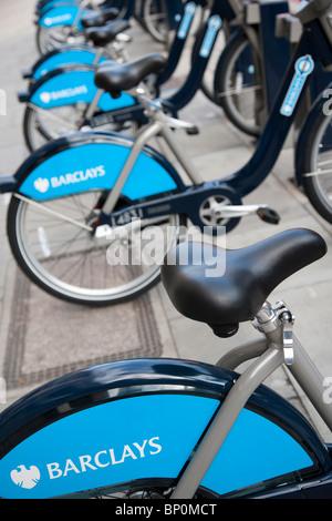Barclays London Fahrradverleih Schema 8. August 2010 - Stockfoto
