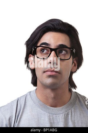 Mann mit eine glänzende Idee - Stockfoto