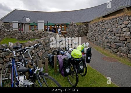Die Besucher Centreat Callanish Standing Stones Calanais, Isle of Lewis äußeren Hebriden, Schottland. SCO 6266 - Stockfoto