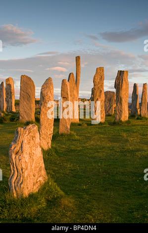 Die äußeren Hebriden berühmten Standing Stones bei Callanish, Lewis. Äußeren Hebriden. Schottland. SCO 6294 - Stockfoto