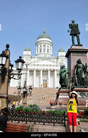Helsinki Kathedrale, Senatsplatz, Helsinki, Region Uusimaa, Finnland - Stockfoto
