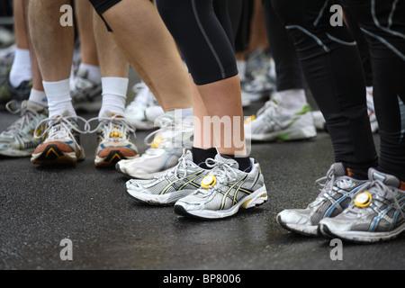 Ein halb-Marathon-Läufer - Stockfoto