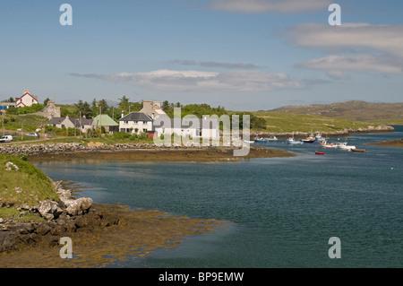 Angelboote/Fischerboote vertäut am Lochmaddy, North Uist, äußeren Hebriden, Schottland SCO 6363 - Stockfoto