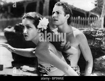 DOROTHY LAMOUR, Jon Hall, der Hurricane, 1937 - Stockfoto