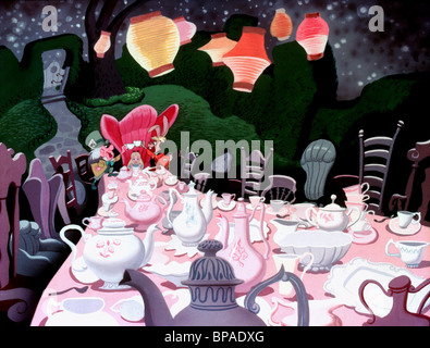 mad hatter alice m rz hase alice im wunderland 1951 stockfoto bild 152755089 alamy. Black Bedroom Furniture Sets. Home Design Ideas