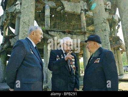 Gedenkstätten anlässlich des 60. Jahrestages des Sieges im russischen Städte vorgestellt - Stockfoto