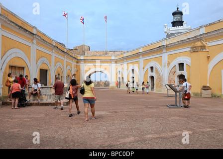 Castillo San Felipe del Morro, Old San Juan, Puerto Rico - Stockfoto