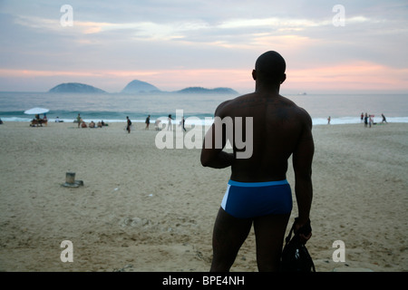 Strand von Ipanema, Rio De Janeiro, Brasilien. - Stockfoto