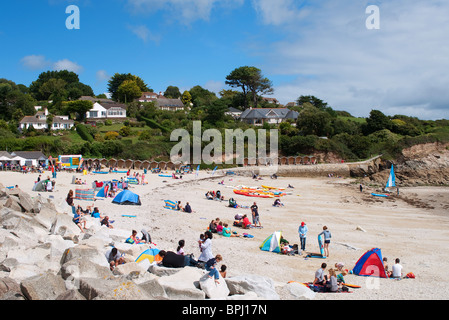 Swanpool Strand, in der Nähe von Falmouth, Cornwall, UK - Stockfoto