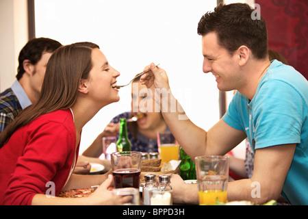 Freunden im restaurant - Stockfoto