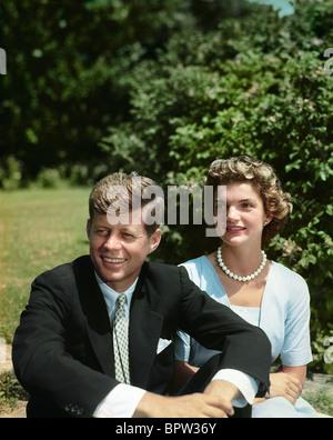 Kennedy & JACQUELINE KENNEDY US-SENATOR & Frau 1. Oktober 1953 - Stockfoto