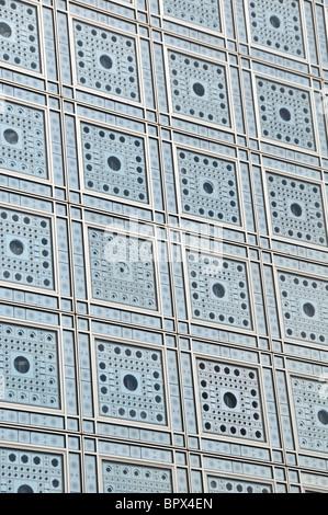 Fassade des Institut du Monde Arabe, Paris, Frankreich - Stockfoto