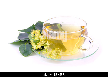T-Stück Lindenblüte - Tee aus Lindenblüten 02 - Stockfoto