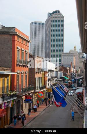 Bourbon Street im French Quarter, New Orleans, Louisiana, USA - Stockfoto