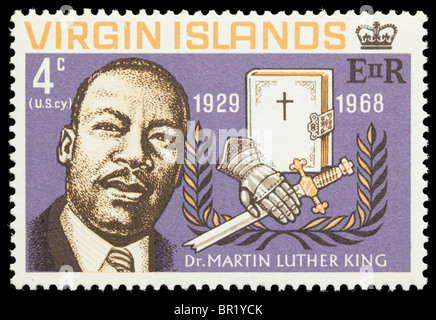 Virgin Islands-Martin-Luther-King-Briefmarke, nicht abgesagt - Stockfoto