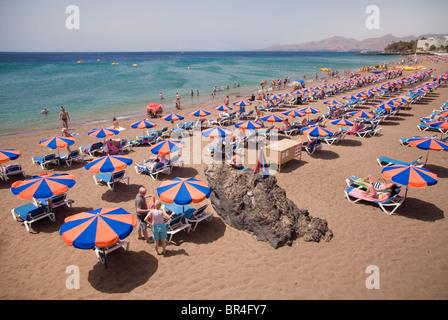 Playa Grande, Puerto del Carmen, Lanzarote - Stockfoto