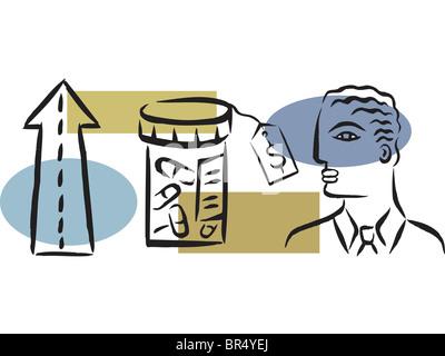 Abbildung der modernen teure Medizin - Stockfoto