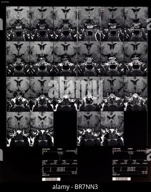 Gehirn MRT Magnetresonanztomographie oder NMRI kernmagnetische Resonanz-Bildgebung der Kinder- - Stockfoto
