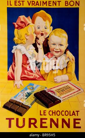 Niederlande Gemälde Le Chocolat Turenne Cacao Kakao kann Schokolade - Stockfoto