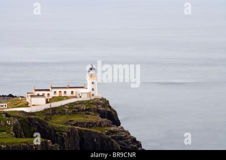 Landschaftlich Point Lighthouse, Isle Of Skye Highland, Schottland. - Stockfoto