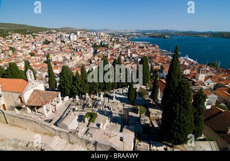 Blick über die Altstadt von Sibenik, Kroatien, Europa - Stockfoto