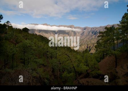 Vulkankrater von Taburiente, La Palma, Kanarische Inseln, Spanien, Europa - Stockfoto