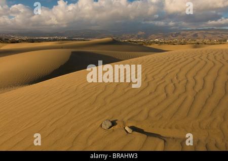 Berühmten Dünen von Maspalomas, Gran Canaria, Kanarische Inseln, Spanien, Europa - Stockfoto