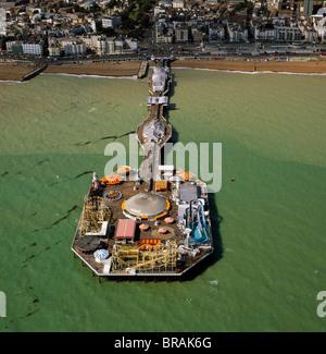Luftaufnahme der Brighton Pier (Palace Pier), Brighton, Sussex, England, Vereinigtes Königreich, Europa - Stockfoto