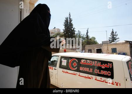 Ärzte für Menschenrechte mobile Klinik in der West Bank, Souk Ba, Palästinensische Autonomiegebiete - Stockfoto