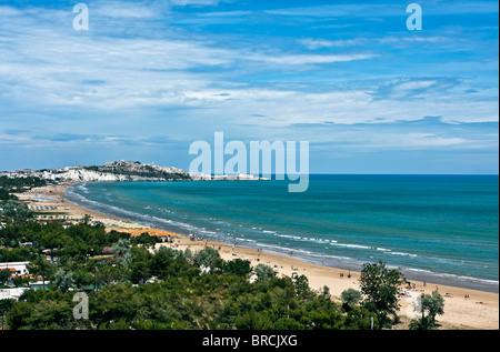 Strand von Vieste, la Gattarella - Nationalpark des Gargano, Foggia, Apulien, Italien - Stockfoto