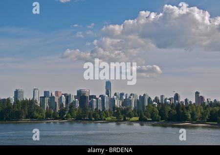 Skyline von Vancouver British Columbia Kanada - Stockfoto